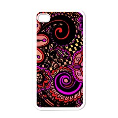 Sunset Floral Apple Iphone 4 Case (white)