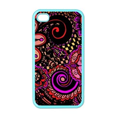 Sunset Floral Apple Iphone 4 Case (color)