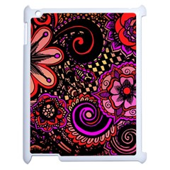 Sunset Floral Apple Ipad 2 Case (white)