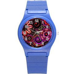 Sunset Floral Round Plastic Sport Watch (s)