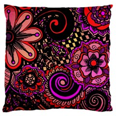 Sunset Floral Large Cushion Case (one Side)