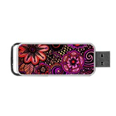 Sunset Floral Portable Usb Flash (two Sides)
