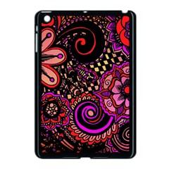 Sunset Floral Apple Ipad Mini Case (black)