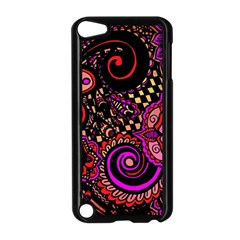 Sunset Floral Apple Ipod Touch 5 Case (black)