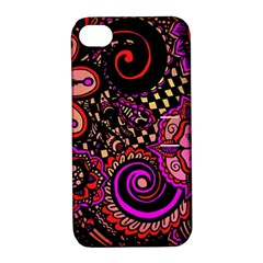 Sunset Floral Apple Iphone 4/4s Hardshell Case With Stand