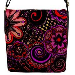 Sunset Floral Flap Messenger Bag (S)