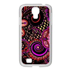 Sunset Floral Samsung Galaxy S4 I9500/ I9505 Case (white)