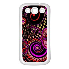 Sunset Floral Samsung Galaxy S3 Back Case (white)