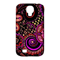 Sunset Floral Samsung Galaxy S4 Classic Hardshell Case (PC+Silicone)