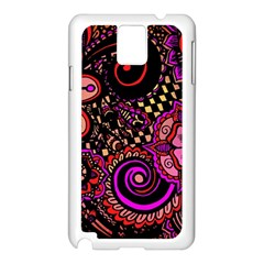 Sunset Floral Samsung Galaxy Note 3 N9005 Case (White)