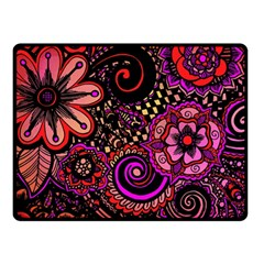 Sunset Floral Double Sided Fleece Blanket (small)