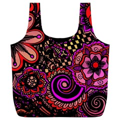Sunset Floral Full Print Recycle Bags (l)