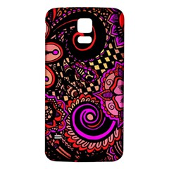 Sunset Floral Samsung Galaxy S5 Back Case (white)