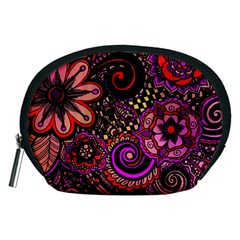 Sunset Floral Accessory Pouches (medium)