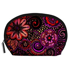 Sunset Floral Accessory Pouches (large)