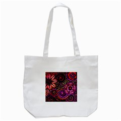 Sunset Floral Tote Bag (white)