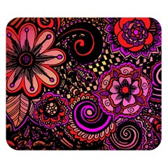 Sunset Floral Double Sided Flano Blanket (Small)