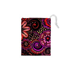 Sunset Floral Drawstring Pouches (xs)