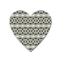 Abstract Camouflage Heart Magnet