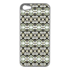 Abstract Camouflage Apple iPhone 5 Case (Silver)