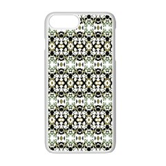 Abstract Camouflage Apple Iphone 7 Plus White Seamless Case