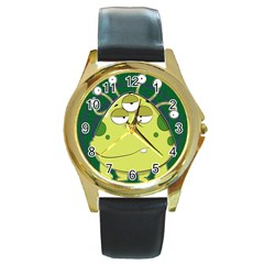 The Most Ugly Alien Ever Round Gold Metal Watch