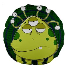 The Most Ugly Alien Ever Large 18  Premium Round Cushions