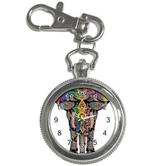 Prismatic Floral Pattern Elephant Key Chain Watches