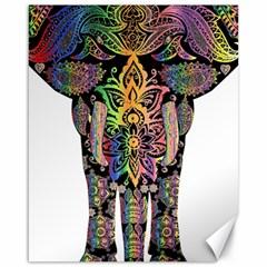 Prismatic Floral Pattern Elephant Canvas 16  X 20