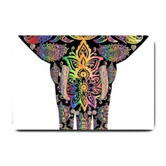 Prismatic Floral Pattern Elephant Small Doormat