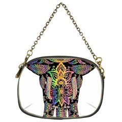 Prismatic Floral Pattern Elephant Chain Purses (One Side)