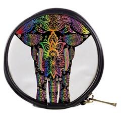 Prismatic Floral Pattern Elephant Mini Makeup Bags