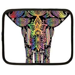 Prismatic Floral Pattern Elephant Netbook Case (XXL)