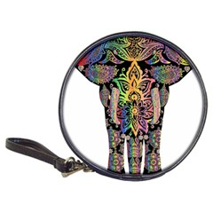 Prismatic Floral Pattern Elephant Classic 20 Cd Wallets