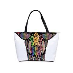 Prismatic Floral Pattern Elephant Shoulder Handbags