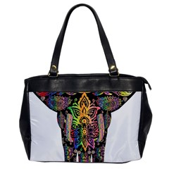Prismatic Floral Pattern Elephant Office Handbags