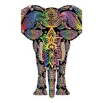 Prismatic Floral Pattern Elephant Shower Curtain 48  x 72  (Small)  42.18 x64.8 Curtain