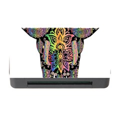 Prismatic Floral Pattern Elephant Memory Card Reader With Cf