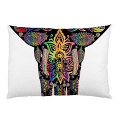 Prismatic Floral Pattern Elephant Pillow Case (two Sides)