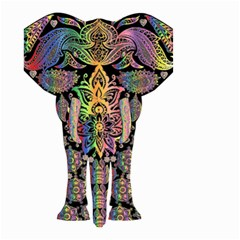 Prismatic Floral Pattern Elephant Small Garden Flag (two Sides)