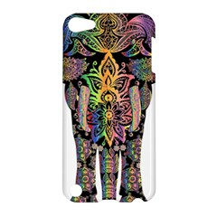 Prismatic Floral Pattern Elephant Apple iPod Touch 5 Hardshell Case