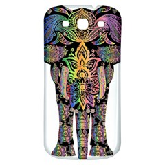 Prismatic Floral Pattern Elephant Samsung Galaxy S3 S Iii Classic Hardshell Back Case