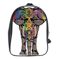 Prismatic Floral Pattern Elephant School Bags (xl)