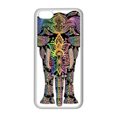 Prismatic Floral Pattern Elephant Apple Iphone 5c Seamless Case (white)