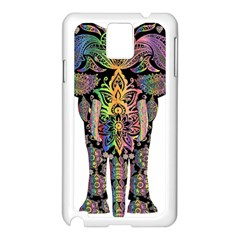 Prismatic Floral Pattern Elephant Samsung Galaxy Note 3 N9005 Case (white)