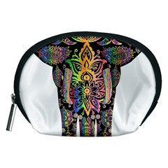 Prismatic Floral Pattern Elephant Accessory Pouches (Medium)