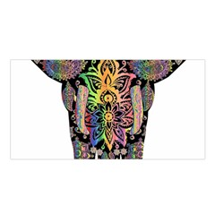 Prismatic Floral Pattern Elephant Satin Shawl