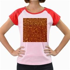 Giraffe Remixed Women s Cap Sleeve T-Shirt