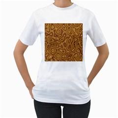 Giraffe Remixed Women s T Shirt (white) (two Sided)