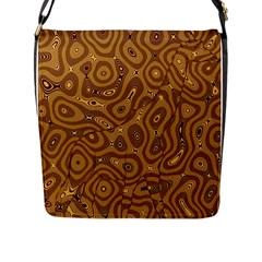 Giraffe Remixed Flap Messenger Bag (l)